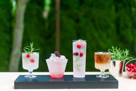 koktejlové menu